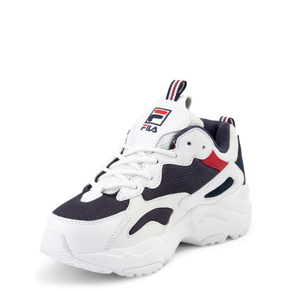 alternate view Fila Ray Tracer Athletic Shoe - Big Kid - White / Navy / RedALT2