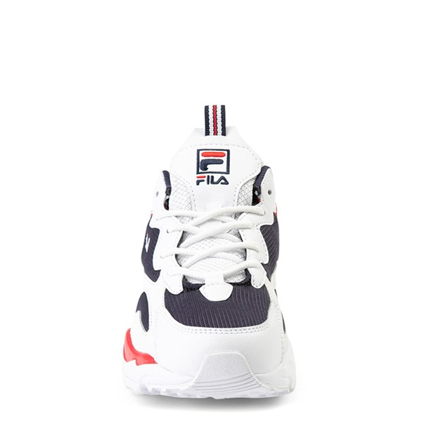 alternate view Fila Ray Tracer Athletic Shoe - Big Kid - White / Navy / RedALT4