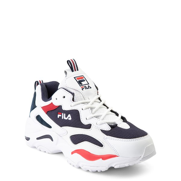 alternate view Fila Ray Tracer Athletic Shoe - Big Kid - White / Navy / RedALT5