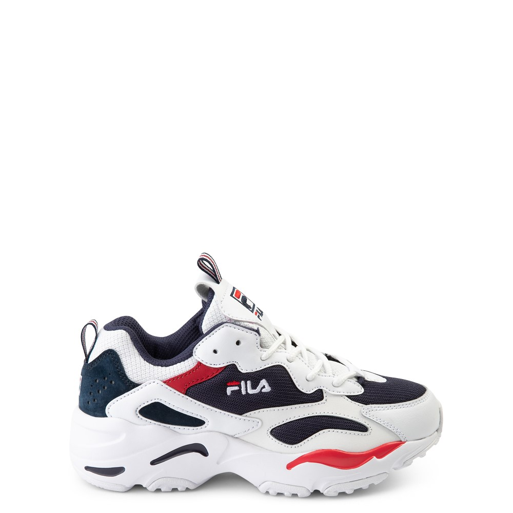 Fila Ray Tracer Athletic Shoe - Big Kid - White / Navy / Red
