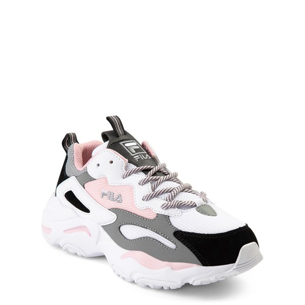 alternate view Fila Ray Tracer Athletic Shoe - Big Kid - Pink / White / GrayALT1