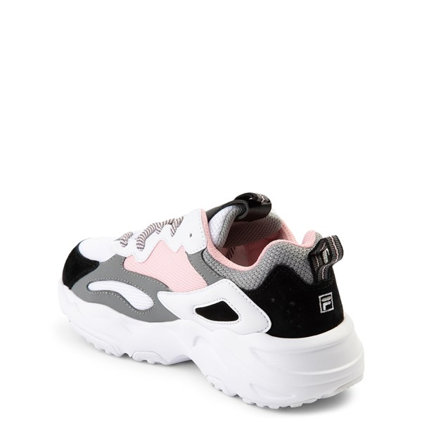 alternate view Fila Ray Tracer Athletic Shoe - Big Kid - Pink / White / GrayALT2