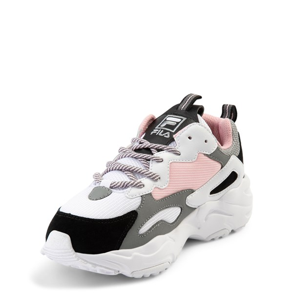 alternate view Fila Ray Tracer Athletic Shoe - Big Kid - Pink / White / GrayALT3