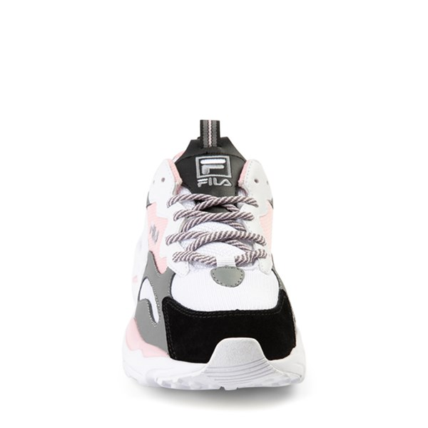 alternate view Fila Ray Tracer Athletic Shoe - Big Kid - Pink / White / GrayALT4