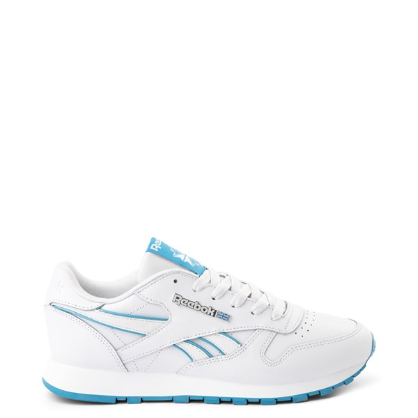 Womens Reebok Classic Athletic Shoe - White / Cyan