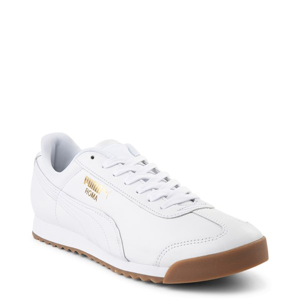 alternate view Mens Puma Roma Classic Athletic Shoe - WhiteALT1