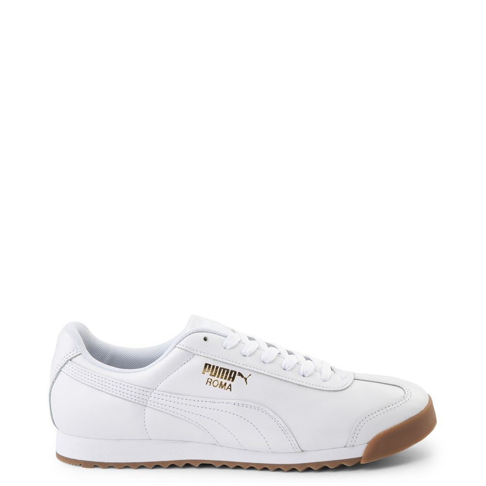 Mens Puma Roma Classic Athletic Shoe - White