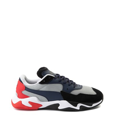 Main view of Mens Puma Storm Origin Athletic Shoe - Navy / Black / Red