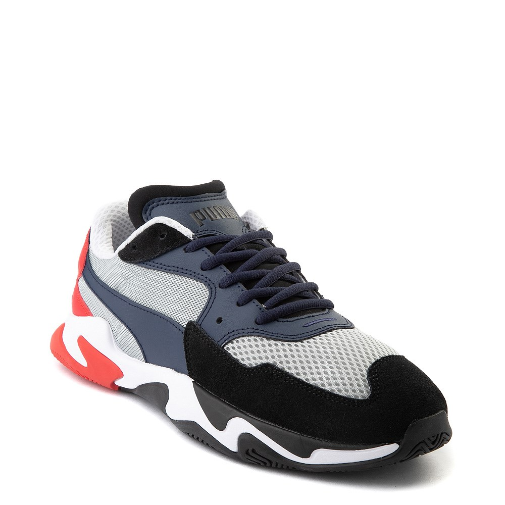 Mens Puma Storm Origin Athletic Shoe Navy Black Red