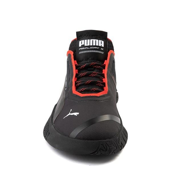 alternate view Mens Puma Replicat-X Athletic Shoe - Black / RedALT4
