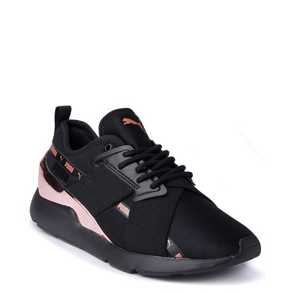 alternate view Womens Puma Muse X-2 Athletic Shoe - Black / Rose GoldALT1