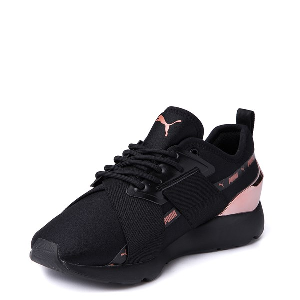 alternate view Womens Puma Muse X-2 Athletic Shoe - Black / Rose GoldALT3