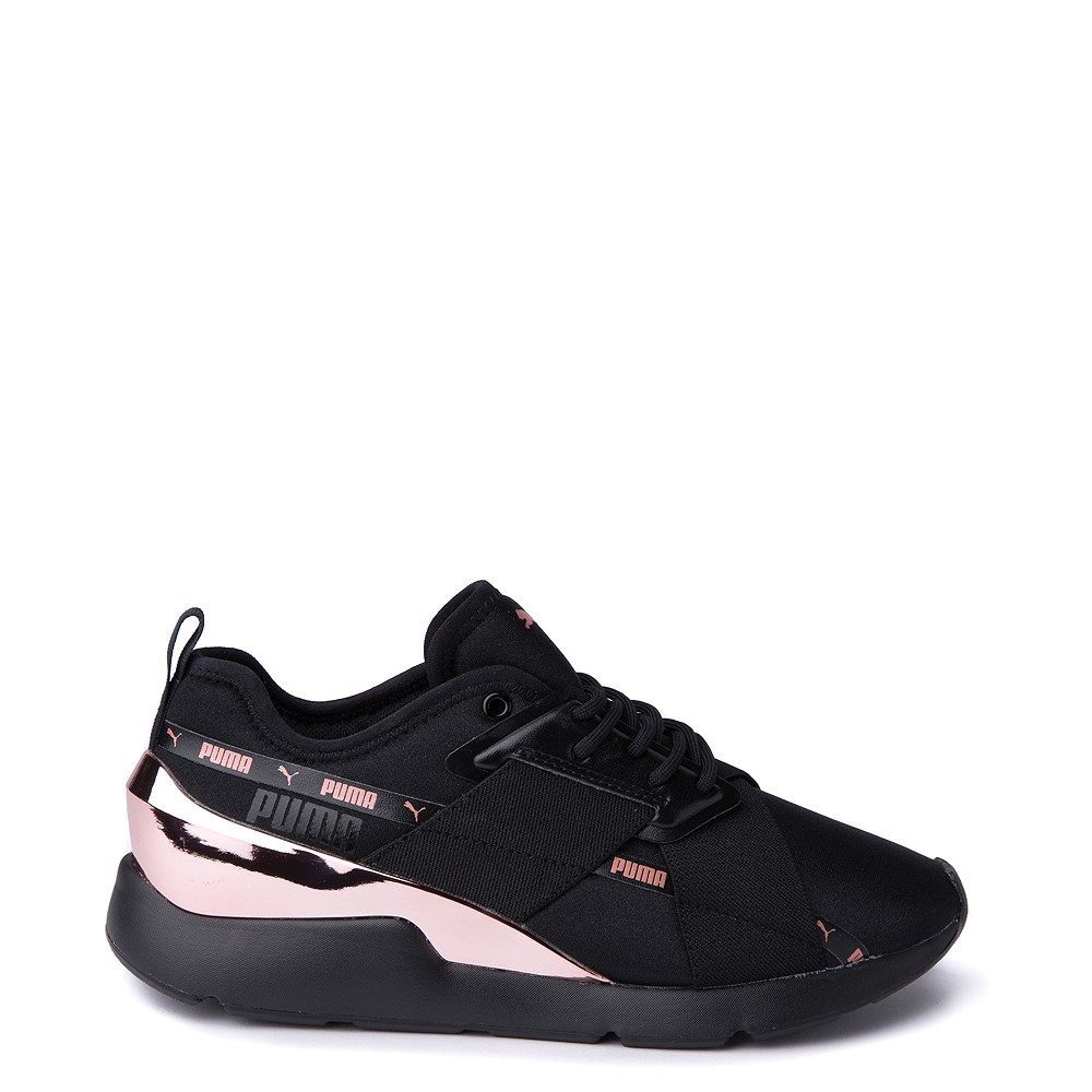 Womens Puma Muse X-2 Athletic Shoe - Black / Rose Gold