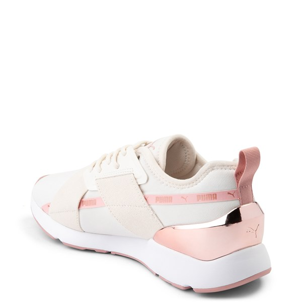 alternate view Womens Puma Muse X-2 Athletic Shoe - Parchment / Rose GoldALT2