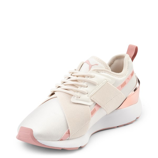 alternate view Womens Puma Muse X-2 Athletic Shoe - Parchment / Rose GoldALT3