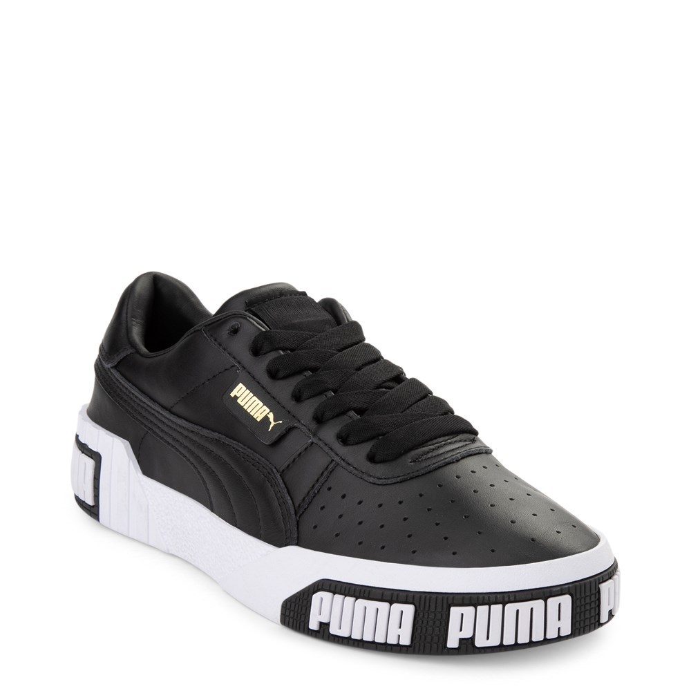 Womens Puma Cali Bold Athletic Shoe - Black / White