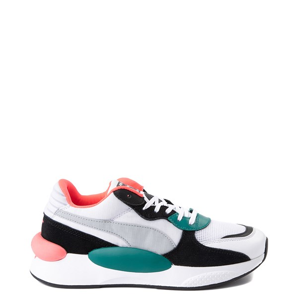 Womens Puma RS 9.8 Space Athletic Shoe - White / Black / Green / Pink