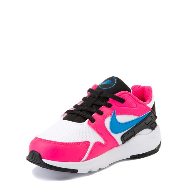 alternate view Nike LD Victory Athletic Shoe - Little Kid - White / Pink / BlueALT3