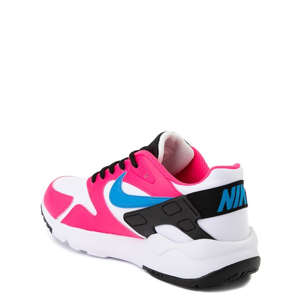 alternate view Nike LD Victory Athletic Shoe - Big Kid - White / Pink / BlueALT2