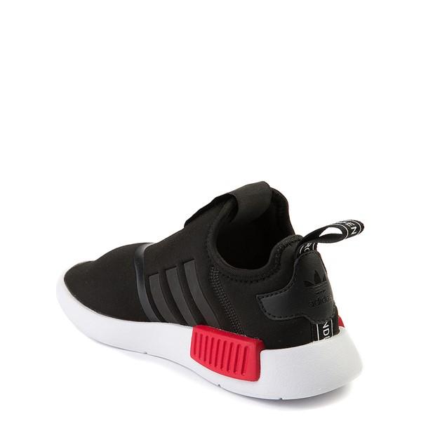 alternate view adidas NMD 360 Slip On Athletic Shoe - Little Kid - Core Black / Red / BlueALT1