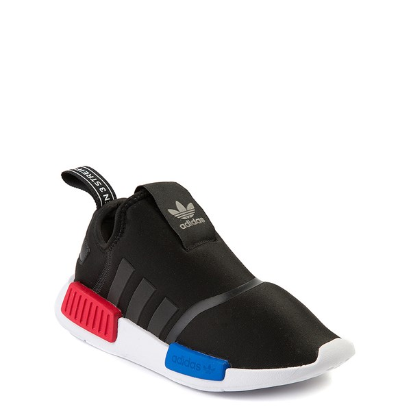 alternate view adidas NMD 360 Slip On Athletic Shoe - Little Kid - Black / Red / BlueALT1