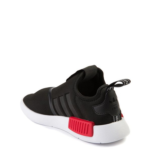 alternate view adidas NMD 360 Slip On Athletic Shoe - Little Kid - Black / Red / BlueALT2