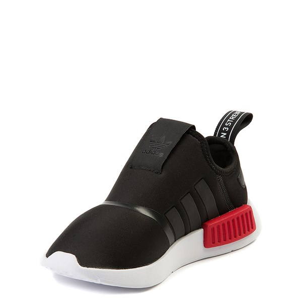 alternate view adidas NMD 360 Slip On Athletic Shoe - Little Kid - Black / Red / BlueALT3