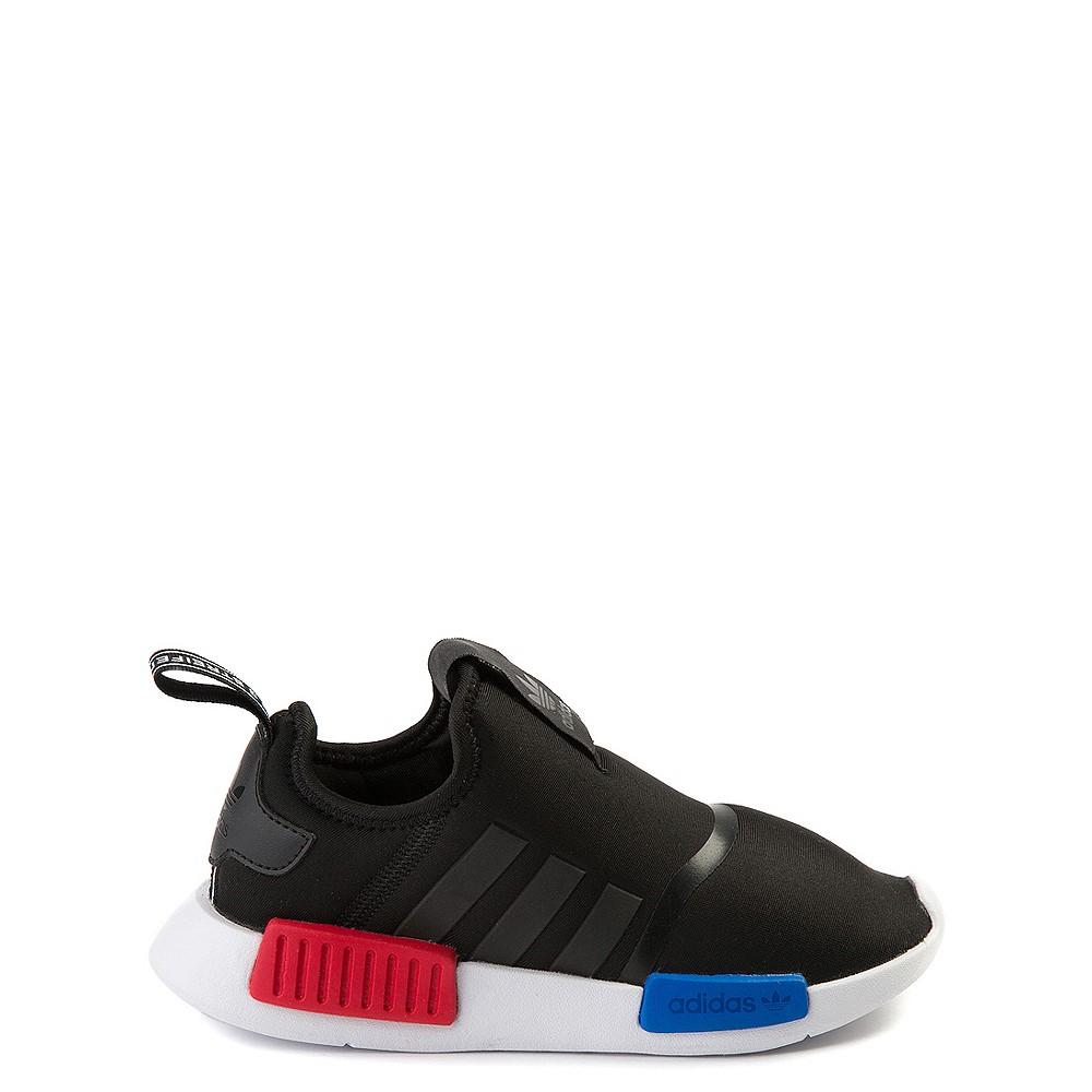 adidas NMD 360 Slip On Athletic Shoe - Little Kid - Core Black / Red / Blue
