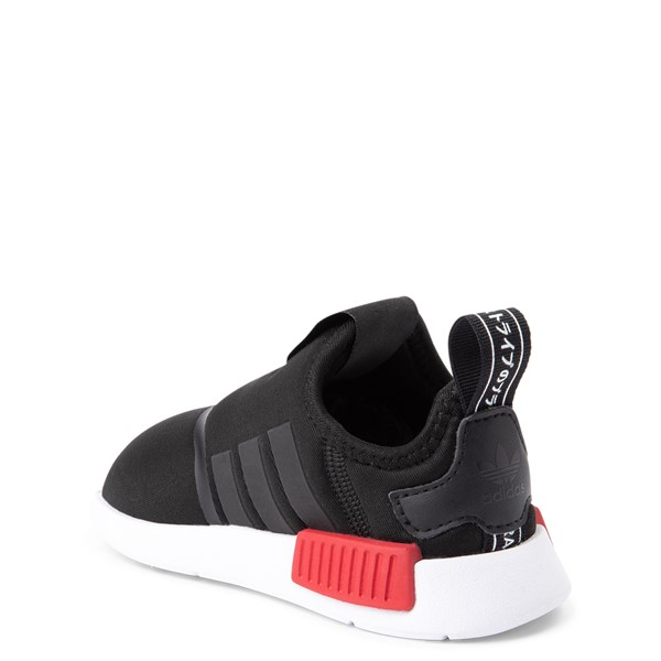 alternate view adidas NMD 360 Slip On Athletic Shoe - Baby / Toddler - Core Black / Red / BlueALT1