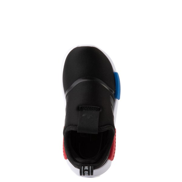 alternate view adidas NMD 360 Slip On Athletic Shoe - Baby / Toddler - Core Black / Red / BlueALT4B