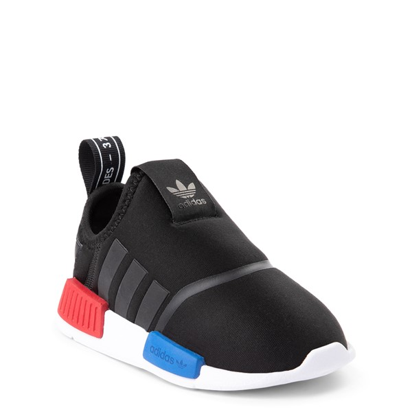 alternate view adidas NMD 360 Slip On Athletic Shoe - Baby / Toddler - Core Black / Red / BlueALT5