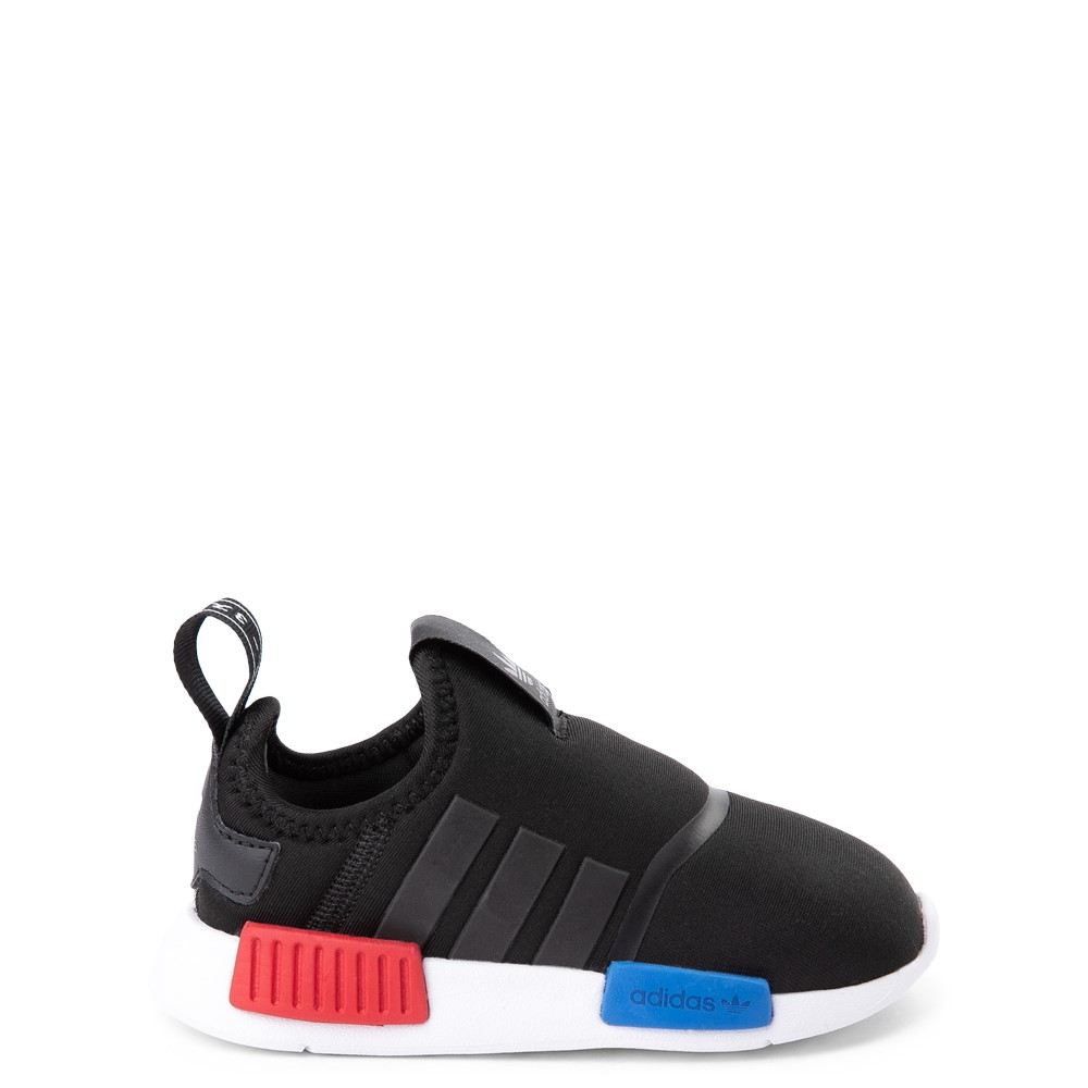 adidas NMD 360 Slip On Athletic Shoe - Baby / Toddler - Core Black / Red / Blue