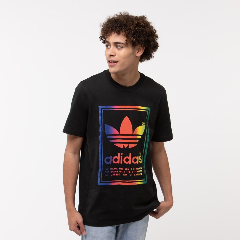 Mens adidas Vintage Box Logo Tee - Black / Multi