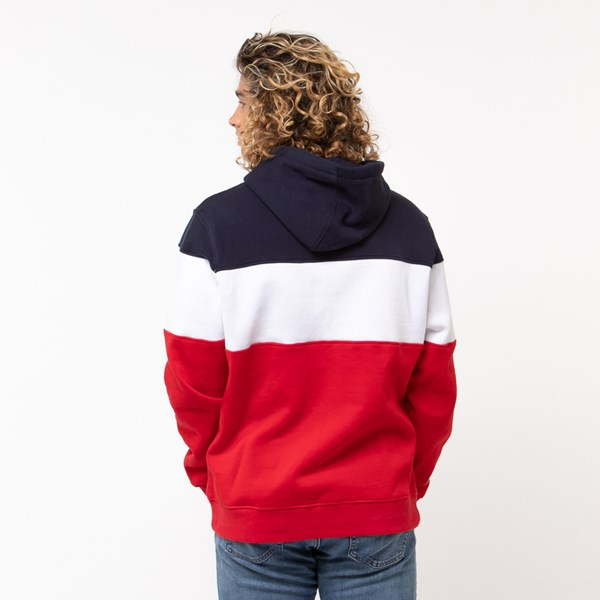 alternate view Mens Fila Flamino Hoodie - White / Navy / RedALT1