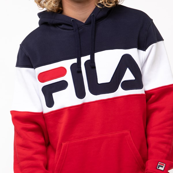 alternate view Mens Fila Flamino Hoodie - White / Navy / RedALT5