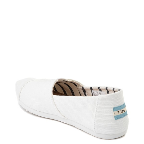alternate view Womens TOMS Classic Slip On Casual Shoe - WhiteALT1
