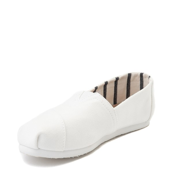 alternate view Womens TOMS Classic Slip On Casual Shoe - WhiteALT2