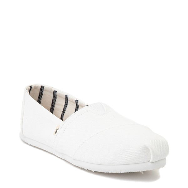 alternate view Womens TOMS Classic Slip On Casual Shoe - WhiteALT5