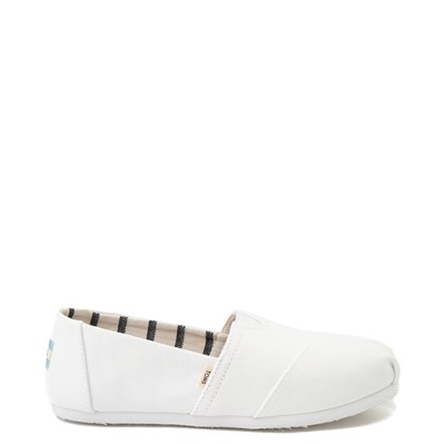Main view of Womens TOMS Classic Slip On Casual Shoe - White