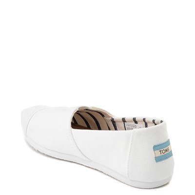Alternate view of Womens TOMS Classic Slip On Casual Shoe - White
