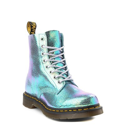 Alternate view of Womens Dr. Martens Pascal 8-Eye Vegan Duo Chrome Boot