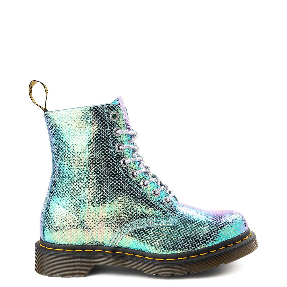 Womens Dr. Martens Pascal 8-Eye Duo Chrome Boot