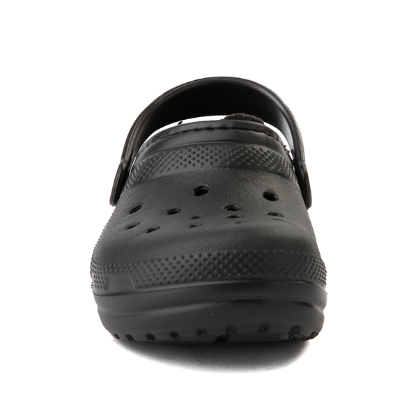 alternate view Crocs Classic Fuzz-Lined Clog - Baby / Toddler / Little Kid - BlackALT4