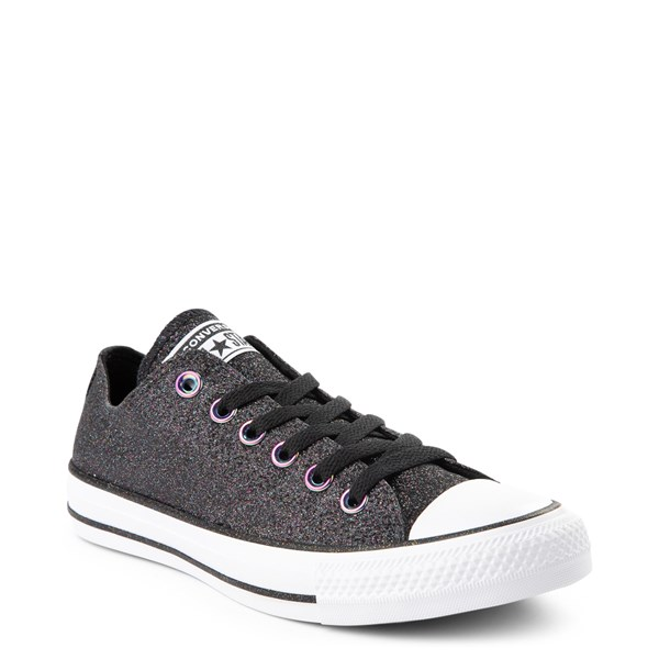 alternate view Converse Chuck Taylor All Star Lo Glitter Sneaker - BlackALT1