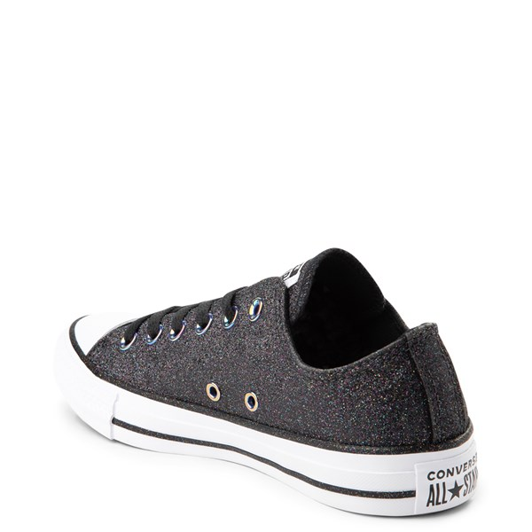 alternate view Converse Chuck Taylor All Star Lo Glitter Sneaker - BlackALT2