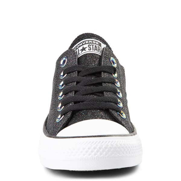 alternate view Converse Chuck Taylor All Star Lo Glitter Sneaker - BlackALT4