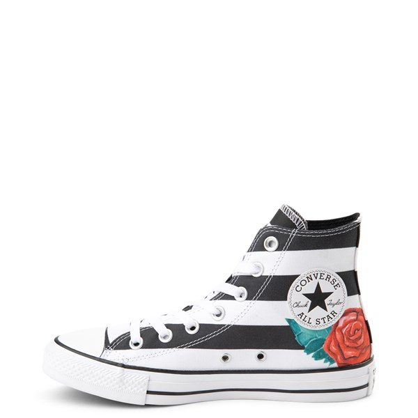 Alternate view of Converse Chuck Taylor All Star Hi Skull Roses Sneaker - Black / White