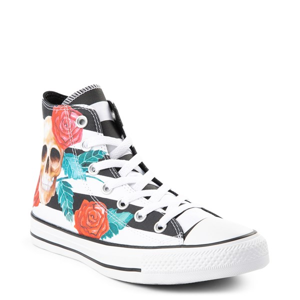alternate view Converse Chuck Taylor All Star Hi Skull Roses Sneaker - Black / WhiteALT1B