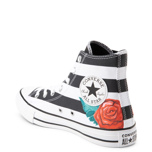 alternate view Converse Chuck Taylor All Star Hi Skull Roses Sneaker - Black / WhiteALT2