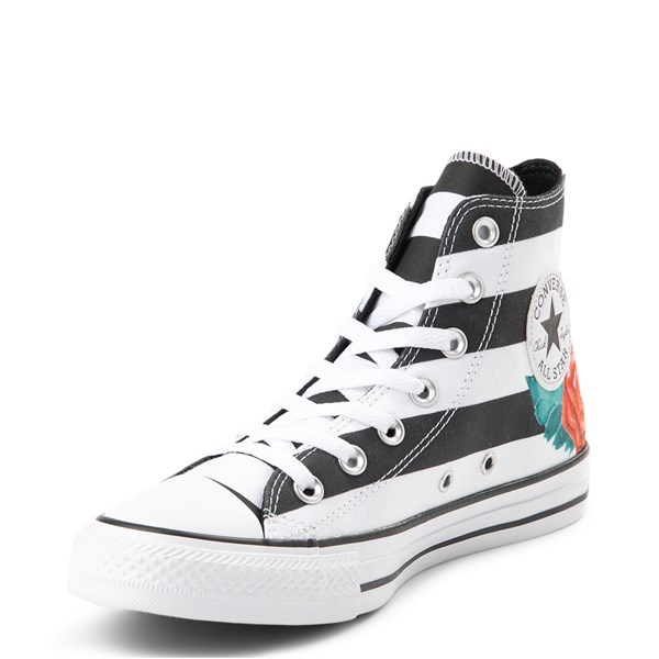 alternate view Converse Chuck Taylor All Star Hi Skull Roses Sneaker - Black / WhiteALT3